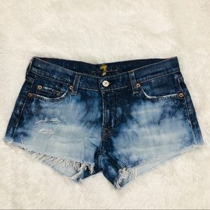 Seven for all mankind Destroyed Distressed Cutoffs